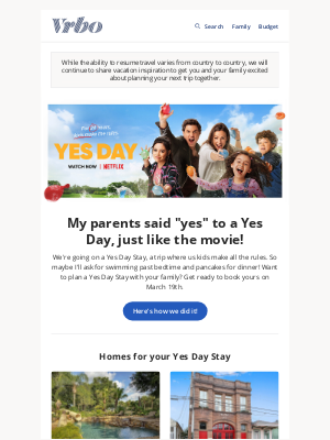 VRBO - Guess whose parents said