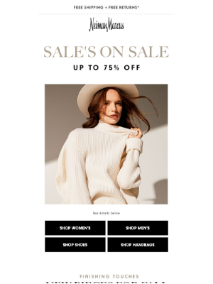 Neiman Marcus - HAPPENING NOW: Take an extra 25% off Sale!
