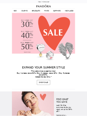 SUMMER SALE: The more you love, the more you save