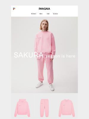 PANGAIA - Exclusive preview: Sakura season is here.