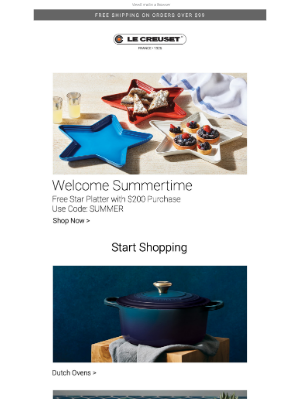 Le Creuset - This Free Gift will Have You Seeing Stars