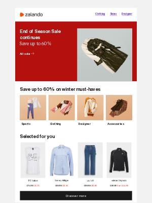Zalando (UK) - Save up to 60%