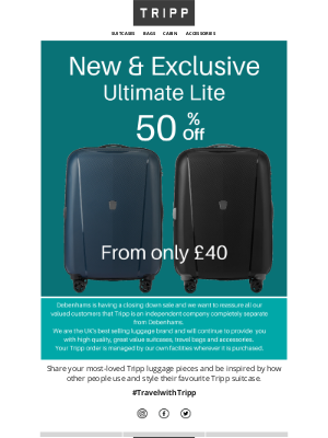 Tripp (UK) - 📢 Sale Continues - Half Price Ultimate Lite