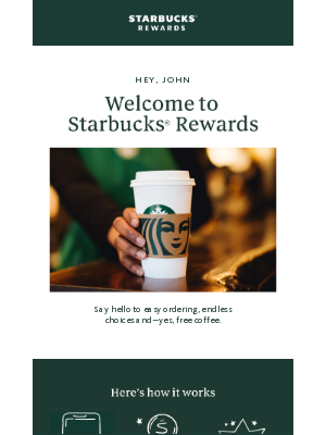 Welcome to Starbucks® Rewards