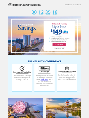 Hilton Hotels & Resorts - Your $149 Spring Savings End Soon! Choose Myrtle Beach, Hilton Head, Orlando, Or Las Vegas