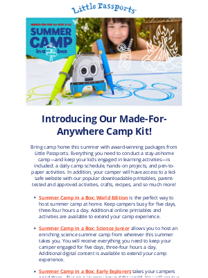 Little Passports, Inc. - Explore Our Made-for-Anywhere Camp Kit for Kids 3 and Up!