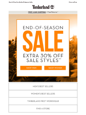 LAST CHANCE: Extra 30% Off Sale Styles