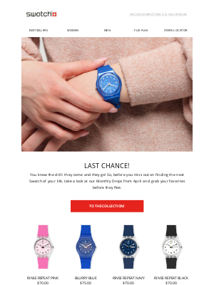 Swatch - The clock is ticking…