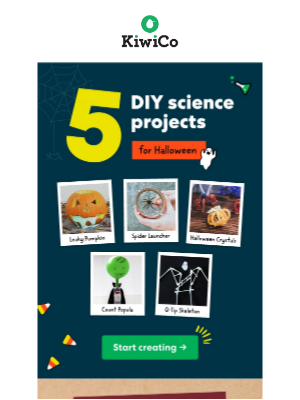 Kiwi Co. - Your Weekend DIYs! From spider launchers to leaky pumpkins