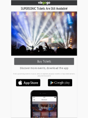 viagogo - SUPERSONIC Tickets Are Still Available!