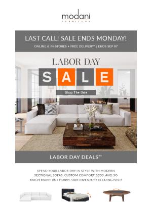 Modani Furniture - Labor Day Sale is Live Now!