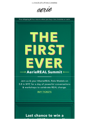 YOU could win a trip to the AerieREAL Summit!