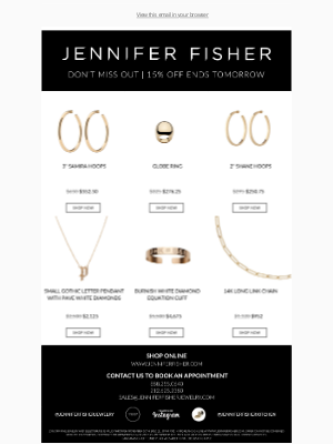 Jennifer Fisher Jewelry - DON'T MISS OUT