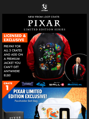 Loot Crate - ❤️ Show off your love of Pixar in this exclusive jacket!