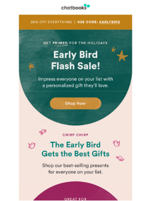 Chatbooks - It's PRIME Holiday Shopping Time
