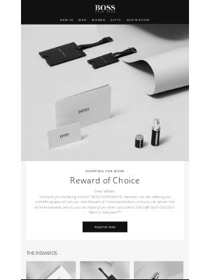 HUGO BOSS (UK) - Choose a very special reward