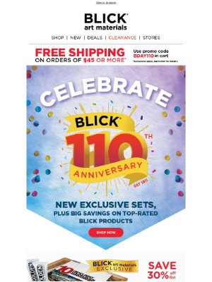 Blick Art Materials - We're celebrating 110 years with EXCLUSIVE SETS 🎉