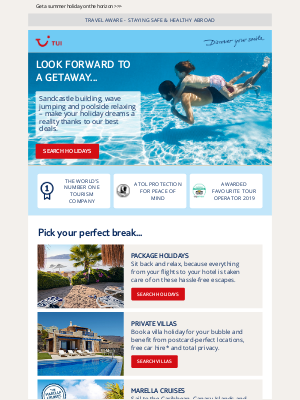 TUI (UK) - You deserve something to look forward to...