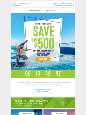 Royal Caribbean Cruises - These savings on your next cruise expire tonight! Book your next adventure now