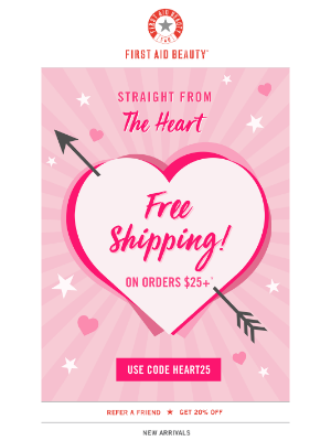 FREE Shipping Starts Now! 💘