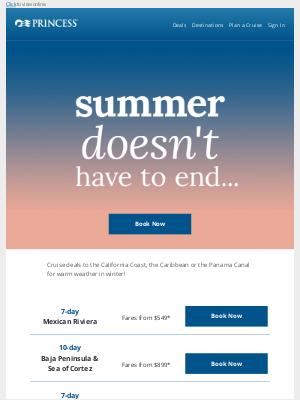 Princess Cruises - ☀️ Deals to keep summer going!
