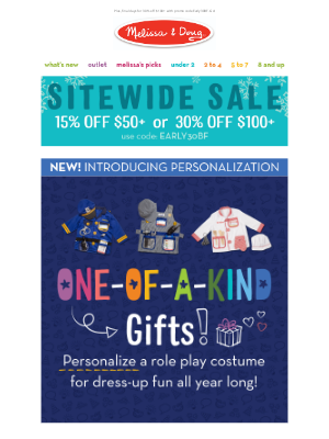 Melissa & Doug LLC - NEW! Introducing Personalization: Just in time for Holiday!