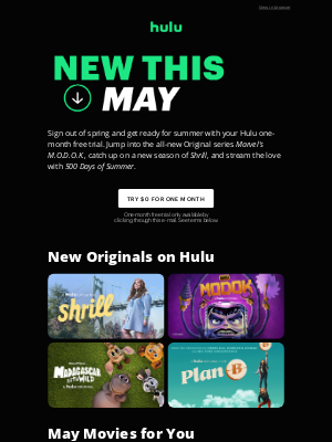 Hulu - Stream New with Your One-Month Free Trial