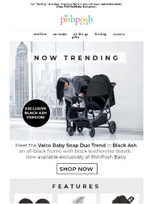 PishPoshBaby - 👀Checkout the NEW Exclusive Valco Snap Duo Trend in ASH🌋