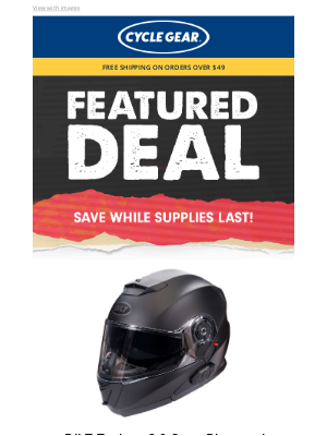 Cycle Gear - Save 45% on this Best Selling BLUETOOTH HELMET