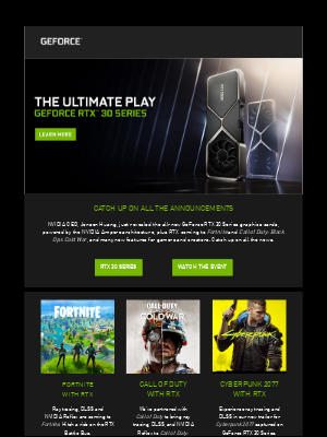 NVIDIA - Announcing the GeForce RTX 30 Series