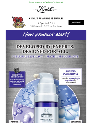 Kiehl's (CA) - NEW RETINOL: Say Hello To A Youthful skin!