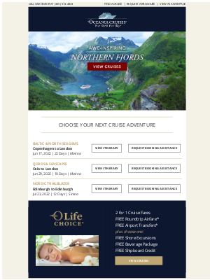 Oceania Cruises - Experience Summer Days in the Northern Fjords
