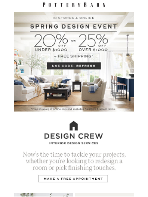 🔵 STARTS NOW! The Spring Design Event 🔵