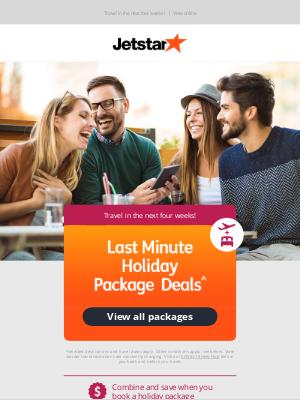 Jetstar Airways - Last Minute Holiday Package Deals^