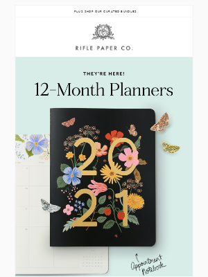 New! 12-Month Planners