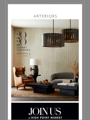 Arteriors Home - High Point Market is around the corner.