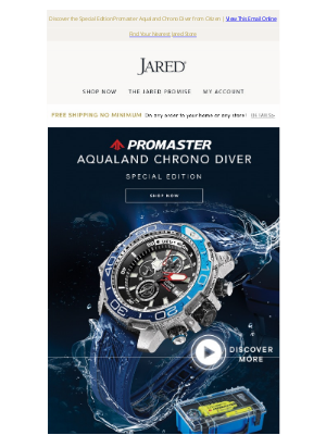Jared - Deep-sea scuba adventures or everyday dips, the Aqualand Chrono Diver is the watch for you
