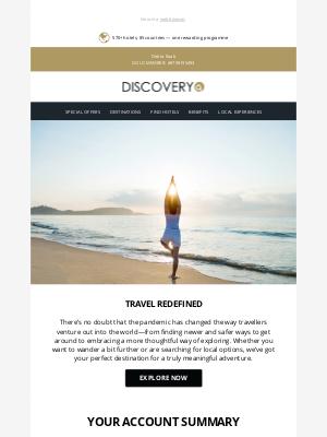 Global Hotel Alliance - Your November Account Summary