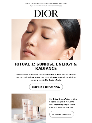 Your morning ritual by Dior