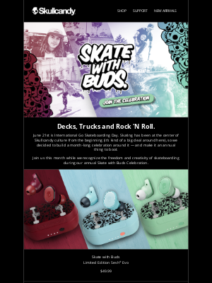 Skullcandy Inc. - It's Skate with Buds Month 🛹 Let's Celebrate!