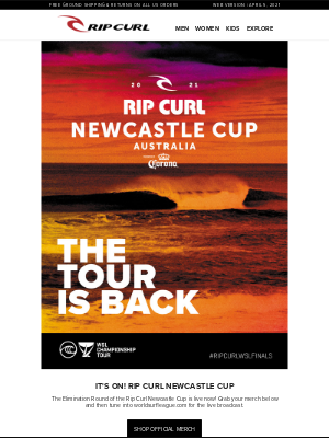 Rip Curl - The Rip Curl Cup is ON! Shop Official Merch