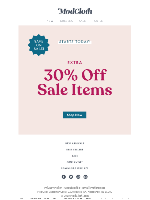 Who wants an extra 30% off?