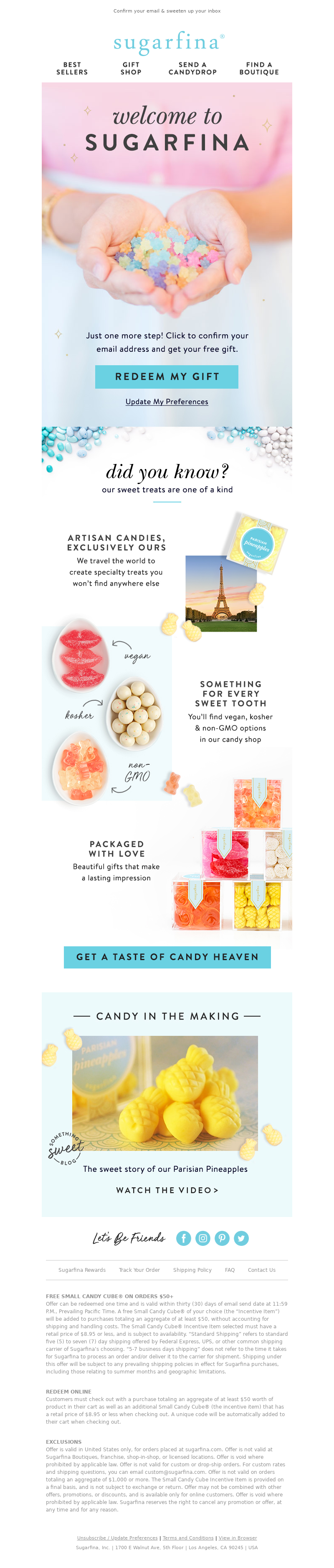 Confirm your email & sweeten up your inbox Sugarfina Best Sellers Gift Shop