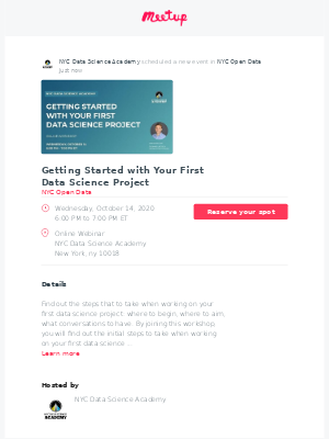 Meetup - 📣 Just scheduled: Getting Started with Your First Data Science Project