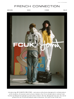 French Connection (UK) - Just dropped: The FCUK x Demit collaboration