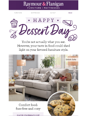 Raymour & Flanigan Furniture - Sharing is caring. Happy National Dessert Day!