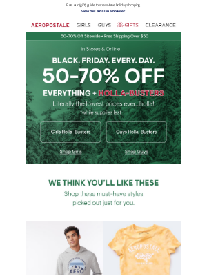 Aeropostale - We Picked These Just For You ☺