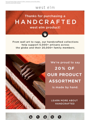 Thanks for purchasing a handcrafted product!