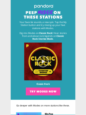 Pandora Radio - Have you tried Modes on these stations? 👀