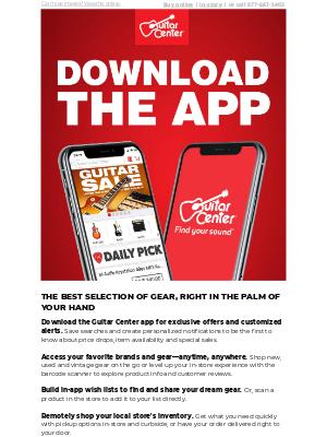 Guitar Center - Shopping tailored to you: The Guitar Center app